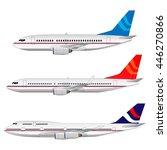 vector airplane. set | Shutterstock .eps vector #446270866