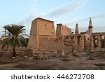 the ancient temple of luxor in... | Shutterstock . vector #446272708