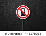 road sign of the circular shape ...   Shutterstock . vector #446275096