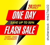 one day flash sale banner... | Shutterstock .eps vector #446276632