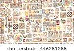 ethnic handmade ornament ... | Shutterstock .eps vector #446281288