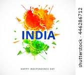 creative illustration or poster ... | Shutterstock .eps vector #446286712