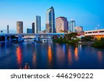 florida tampa skyline at sunset ... | Shutterstock . vector #446290222