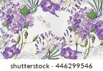best summer flowers for your... | Shutterstock . vector #446299546
