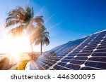 green energy and sustainable... | Shutterstock . vector #446300095