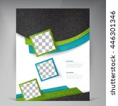 abstract vector modern flyers... | Shutterstock .eps vector #446301346