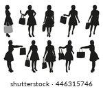 woman shopping vector... | Shutterstock .eps vector #446315746