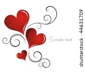heart valentines day background | Shutterstock .eps vector #44631709