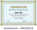 guilloche template for... | Shutterstock .eps vector #446320216