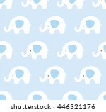 seamless elephants pattern.... | Shutterstock .eps vector #446321176