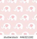 elephants pattern. cute... | Shutterstock .eps vector #446321182