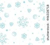Stock vector pattern baby sun background 446328718