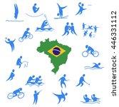 twenty sport icon sets design... | Shutterstock .eps vector #446331112