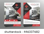 grey red brochure flyer... | Shutterstock .eps vector #446337682