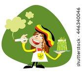 friendly smiling rastafarian... | Shutterstock .eps vector #446340046