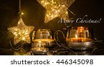 christmas decoration for the... | Shutterstock . vector #446345098