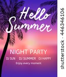 hello summer beach party. ... | Shutterstock .eps vector #446346106