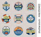 nautical color insignias... | Shutterstock .eps vector #446350402