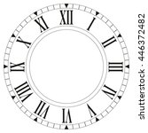 Clock Face Blank On White...