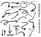 vector illustration set of hand ...   Shutterstock .eps vector #446386858