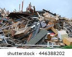 rubbish dump wood | Shutterstock . vector #446388202