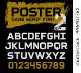 poster geometric font   vintage ... | Shutterstock .eps vector #446407762