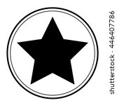 Black Star Icon Vector In...
