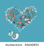 garden love bird | Shutterstock .eps vector #44640853