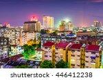 yangon  myanmar downtown... | Shutterstock . vector #446412238