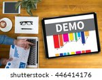 demo  demo preview  ideal ... | Shutterstock . vector #446414176