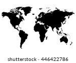 world map  europe  asia  north... | Shutterstock .eps vector #446422786