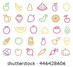 simple stylized contours of...   Shutterstock .eps vector #446428606