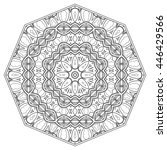 mandala flower decoration ... | Shutterstock .eps vector #446429566