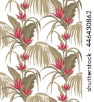 heliconia pattern on a white... | Shutterstock .eps vector #446430862