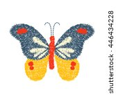 embroidery butterfly design for ... | Shutterstock .eps vector #446434228