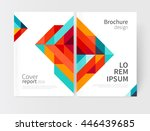 minimalistic brochure design.... | Shutterstock .eps vector #446439685