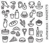 set of food icons outline... | Shutterstock .eps vector #446439775