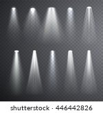 bright white light beam.... | Shutterstock .eps vector #446442826