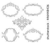 vector set of calligraphic... | Shutterstock .eps vector #446448436