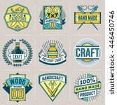 hand craft color insignias... | Shutterstock .eps vector #446450746