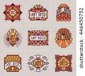 art deco color insignias retro... | Shutterstock .eps vector #446450752