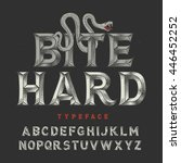 vintage angry font with high... | Shutterstock .eps vector #446452252