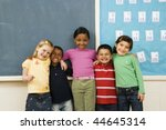 group of diverse young students ... | Shutterstock . vector #44645314