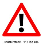 Red Triangle Warning Alert Sig...