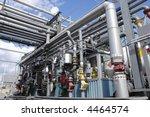oil refinery interior of main...   Shutterstock . vector #4464574