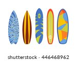 vector modern colorful surfing... | Shutterstock .eps vector #446468962