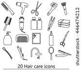 hair care theme black simple...   Shutterstock .eps vector #446474212