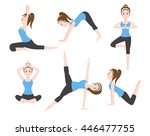 yoga charector 6 set  ... | Shutterstock .eps vector #446477755