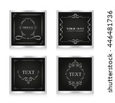 set of classic card silver color | Shutterstock .eps vector #446481736