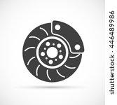 brake disc icon | Shutterstock .eps vector #446489986